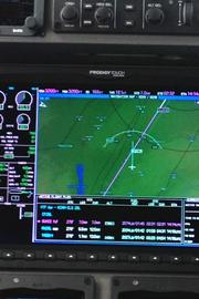 The touchscreens give pilots up-to-date information on weather, wind speeds and a host of other information.