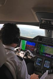 One thing that hasn't changed is the control column, with the pilot's yoke still used when manually flying the aircraft.