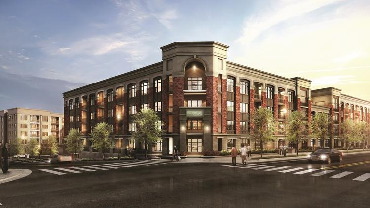 Captivating A Rendering Of The New Crescent Main Street Apartment Building That Has  Opened On Main Street