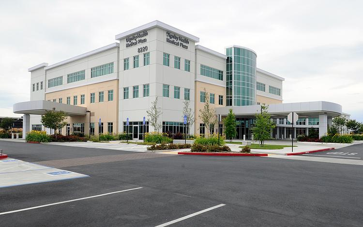 The health care industry is a major employer in Elk Grove. This is the Dignity Health building there. The city also has Kaiser Permanente and Sutter Health facilities.