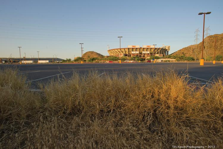 State Farm Insurance Co. has plans to build a large complex north of Sun Devil Stadium in Tempe.