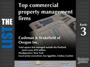 3: Cushman & Wakefield of Oregon Inc.