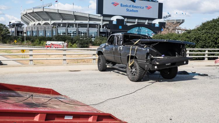 f4b25e46e57 Carolina Panthers quarterback Cam Newton was involved in a traffic accident  in Charlotte