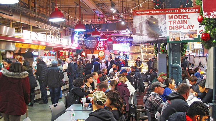 Reading terminal market serves as a model for baltimore for Fish market philadelphia