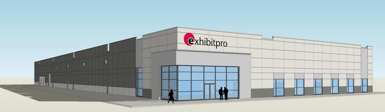 A rendering of Exhibitpro's upcoming new home in New Albany.