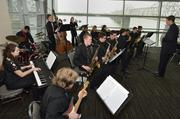 Ballard High School students performed awards dinner, which was held at the KFC Yum! Center.