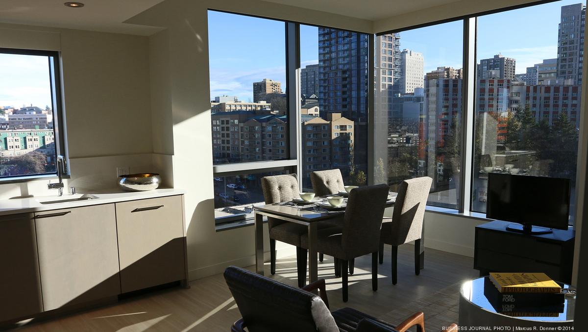 Curtain Rises On 40 Story Premiere On Pine Luxury Apartment Tower In Seattle Slideshow Puget Sound Business Journal