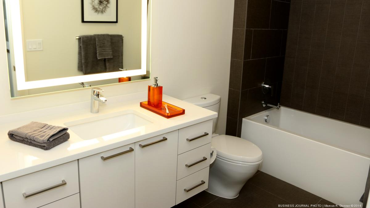 Wall hung bathroom vanities