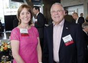 Honorees Jeanne Culver of the Dallas AfterSchool Network and Dennis Cagan of Copper Mobile.