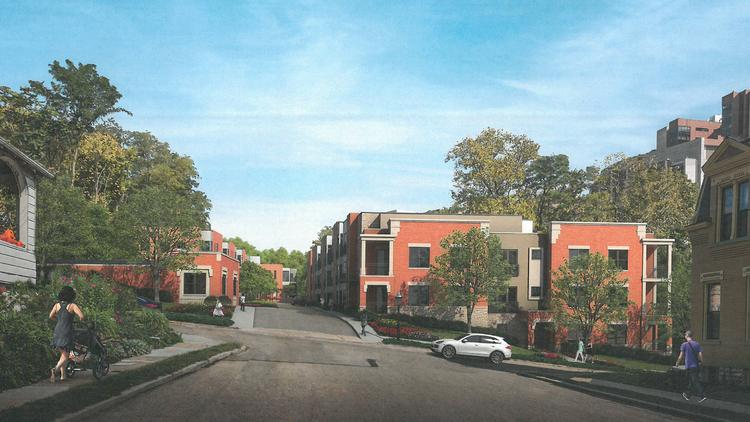 A Rendering Of Gaslight Manor, A Planned 117 Unit Luxury Apartment  Community In Clifton