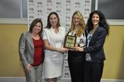 Melanie Dickinson and Holly Prince, Dana Gryniuk, and Marianne Finizio with Simply Healthcare Plans.
