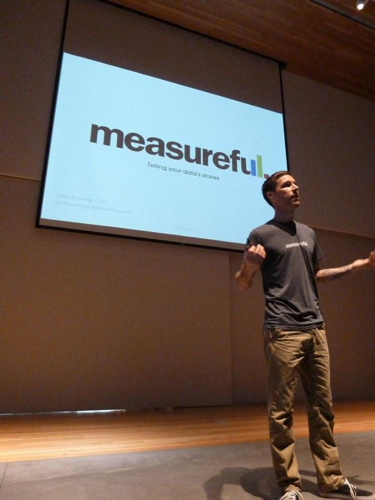 John Koening, CEO & Founder of Measureful, took home the audience choice award of $10,000 cash following his presentation at Portland Seed Fund's Demo Day.