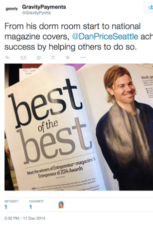 Dark horse entrepreneur wins Entrepreneur Magazine's top recognition