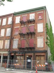 This building along Walnut Street will be rehabilitated into apartment units in phase two of Mercer Commons.