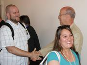 Wichita Vice Mayor Pete Meitzner was also on hand to welcome passengers.