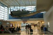 The impressive Battle of Midway Memorial exhibit at Chicago's Midway Airport.