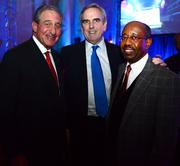 Arthur Blank, owner of the Atlanta Falcons and co-founder of Home Depot, left; with Sam Williams, president of Metro Atlanta Chamber; and Robert L. Brown, president and CEO of R L Brown & Associates Inc.