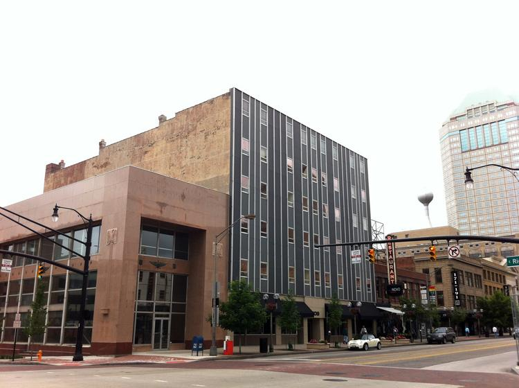 The Trautman Building and the neighboring building at the corner of Rich and High streets will be torn down to make way for more apartments.