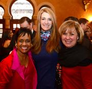 Glenda Hatchett, board member of the Atlanta Falcons, left; with Kelly L. Loeffler, co-owner and co-chairman of the Atlanta Dream; and Kim Shreckengost, executive vice president  and chief of staff for AMB Group LLC.
