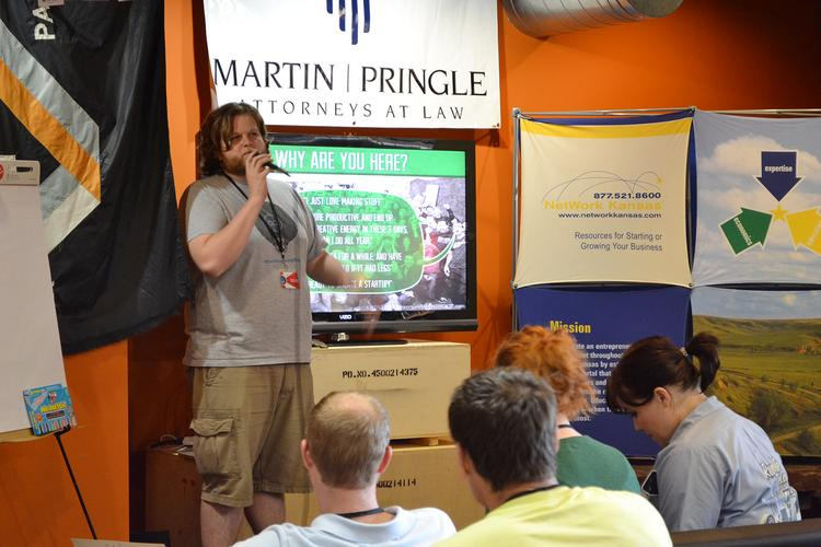 Startup Weekend facilitator Nate Allen explains on Friday night how the event will work.