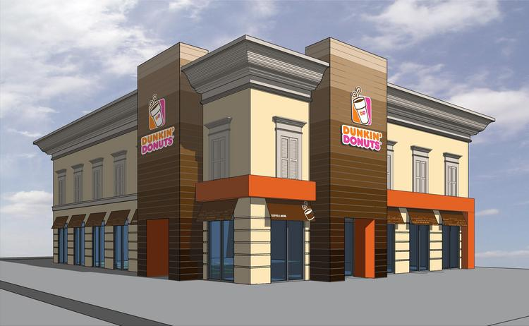 MM Donuts LLC signed a 3,806-square-foot lease for a freestanding building in Orleans Square Shopping Center on W. Lake Houston Drive. Janet Maas of Century 21 represented the landlord, Compass Care Holdings Ltd., and Jonathan Hicks with Davis Commercial represented the tenant. Conceptual rendering by Fort Worth-based Rogue Architects.