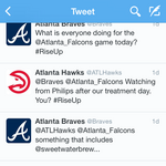 Hawks tweet to Braves during Falcons' game they want a SweetWater