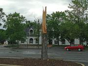 Tree damage in the parking lot of the Whitmoor Country Club, located off of Wolfrum Road in St. Charles.