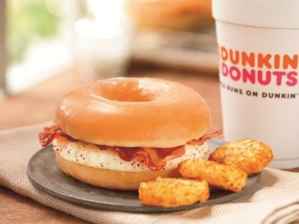 Dunkin' Donuts' glazed breakfast sandwich is bacon and a fried egg over-hard on a glazed doughnut. I knew I could do better.