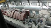 The steam turbine that provides the electricty from  Cliffside Steam Station