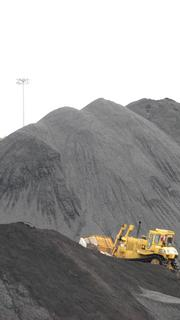 Cliffside  has two massive coal piles for the two operating units. This pile serves Unit 6.
