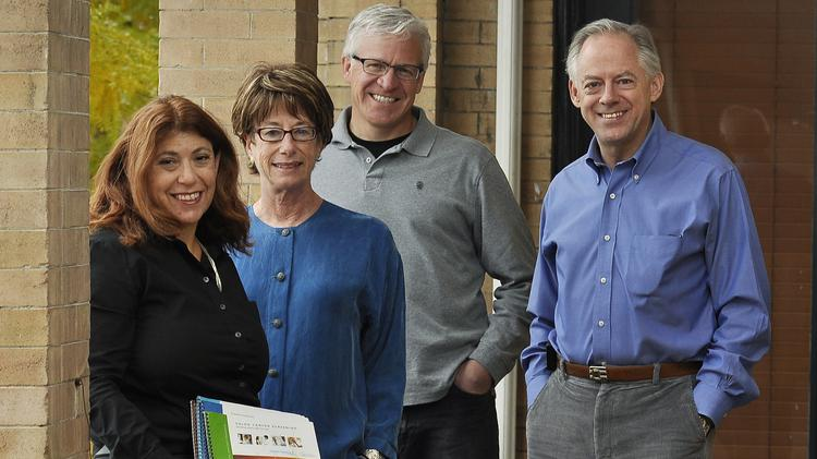 Left to right, Denver public policy firm Engaged Public's Brenda Morrison, partner; Barbara Yondorf, director of consumer health engagement; Chris Adams, president; and Dr. Dave Downs, medical director.