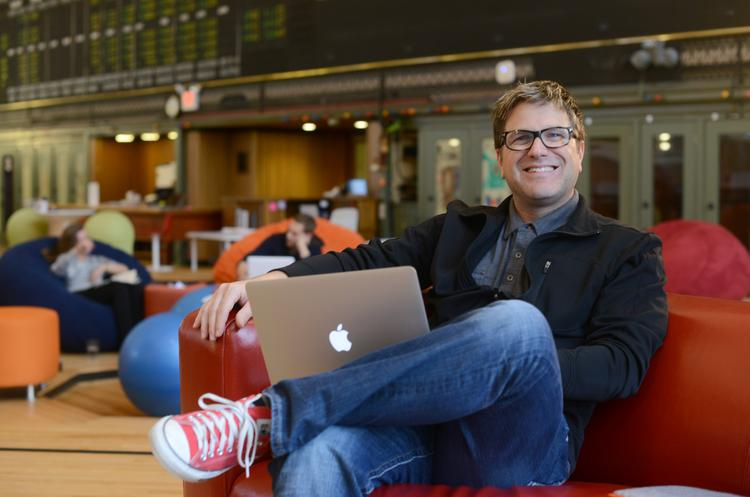 Kyle Coolbroth, co-founder of CoCo, at CoCo's co-working space in downtown Minneapolis.