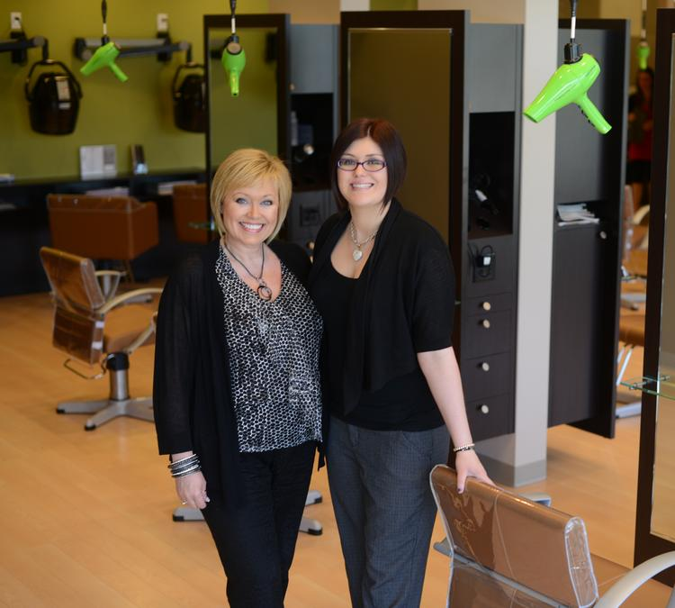 Kyle Simonson, left, opened her first salon and spa in 1983. Her daughter Deidre now joins her in the business.