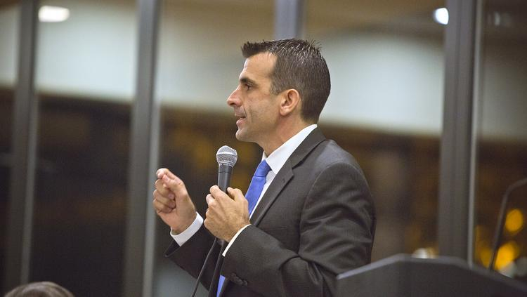 San Jose Mayor Sam Liccardo will write the official argument against an initiative that would require businesses to offer additional hours to existing part-time workers before hiring new ones. The initiative will appear on the November ballot.