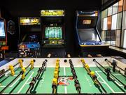 One of the highlights of GMR Marketing's office in New Berlin is a barcade, a mix of a bar and arcade games.