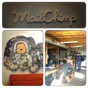 Koshy's team stopped at the Mailchimp headquarters for breakfast on Day Two.