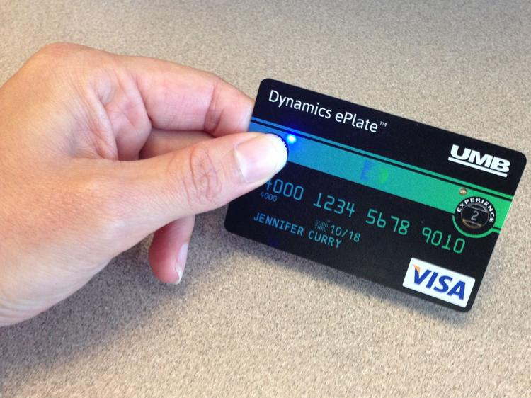 A demo version of the Dynamics ePlate card.