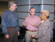 Sam Williams, president of the Metro Atlanta Chamber of Commerce, joins current Georgia Attorney General Sam Olens and then-Atlanta Mayor Shirley Franklin before boarding their flight for a 8-day China tour in 2006.
