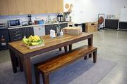 The break room, or Commons, at Jama Software, serves as an all purpose gathering and event space.