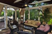 The home includes and outdoor porch