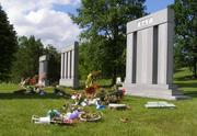 A group of mostly Scottish travelers known as Gypsies arrives from out of town at Spring Grove Cemetery each year around Memorial Day. They decorate several family members' graves in gaudy displays of flowers and knick-knacks.