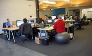 The open offices at Jama Software foster team work.