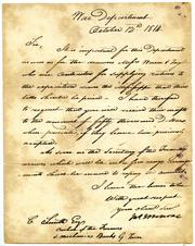 Riggs Bank document from James Monroe