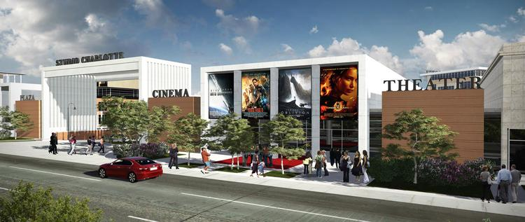The proposed Studio Charlotte Gateway and Cinema Theater on Central Avenue. Flip through these slides for a look at plans for the Eastland Mall site.