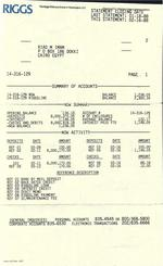 Selling banking history: Riggs customer hopes to profit from old statement