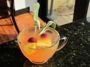 The Sauternes punch, a summery French punch, is the perfect answer for a summer day.