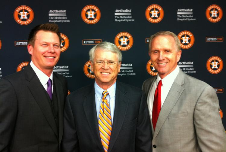 Pictured from left to right: Geoff Blum, Bill Brown and Alan Ashby.
