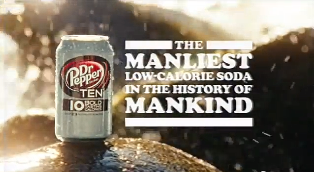 A Dr. Pepper parody of manly 1970s nature-inspired beer commercials was filmed in El Dorado County in March and has been running in strong rotation ever since. This is a screen capture from the YouTube video.