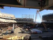 @JedYork:  Is that the frame for the largest outdoor video board? Yep