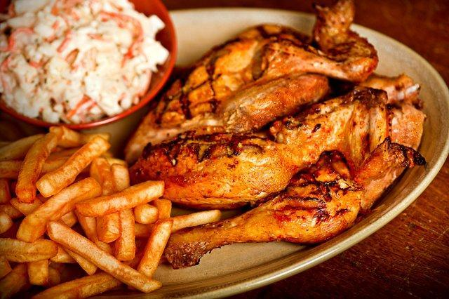 A plate of chicken, fries and slaw from Nando's, which is offering a special for government workers due to the shutdown.